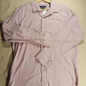 Marc Anthony Stretch Long Sleeve Button Down Pink